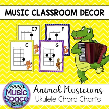 Ukulele Chord Chart Pdf Teaching Resources Teachers Pay Teachers