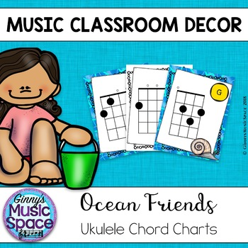 Ukulele Chord Charts Ocean Friends Theme By Ginnys Music Space Tpt