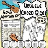 Ukulele Chord Dice BUNDLE - Key of C, G & D Song Writing Kit