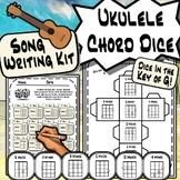 Ukulele Chord Dice - Key of G Ukulele Song Writing Kit