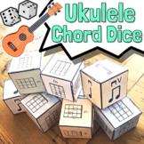 Ukulele Chord Dice - Key of C Ukulele Song Writing Kit