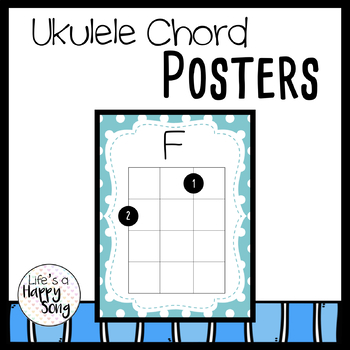 Ukulele Chord Posters By Lifes A Happy Song Teachers Pay Teachers