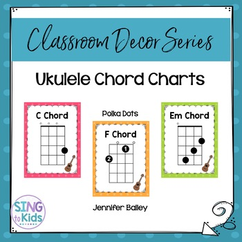 Ukulele Chords Polka Dots By Singtokids Teachers Pay Teachers