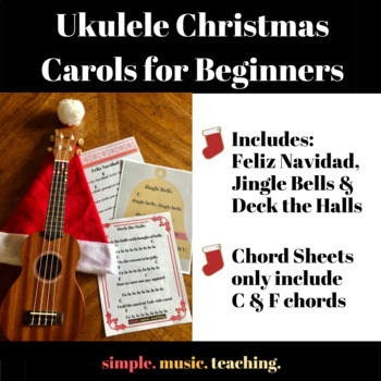 ukulele christmas carols for beginners bundle by simple music teaching ukulele christmas carols for beginners bundle