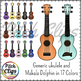 Ukulele Clip art (clipart) Makala Dolphin and generic - Commercial Use, SMART!