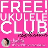 Ukulele Club Application & Instrument Checkout Form