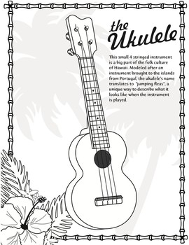 Ukulele Coloring Page By World Music With DARIA