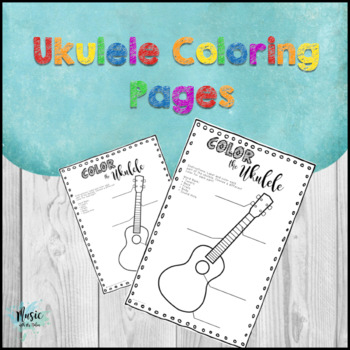 Ukulele Coloring Pages