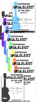 Ukulele End of Year Award Certificate ~ Editable