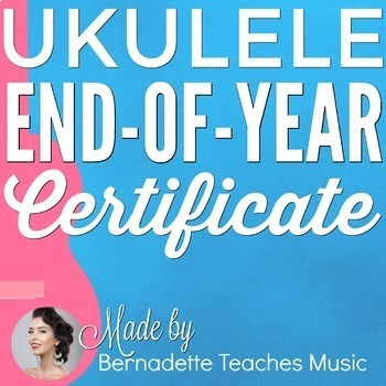 Ukulele End of Year Award Certificate ~ Editable