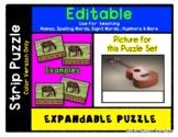 Ukulele - Expandable & Editable Strip Puzzle with Multiple