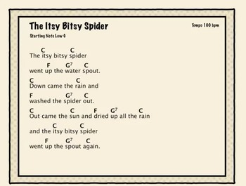 Free Ukulele Program Video- Itsy Bitsy Spider Song with a Bouncing Ball