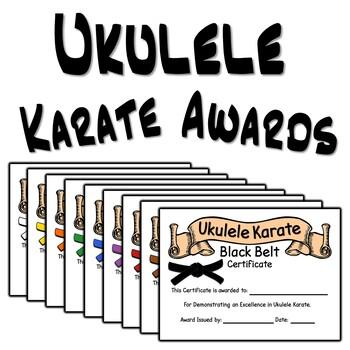 Ukulele Karate Award Certificates