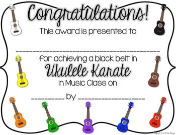 Ukulele Karate Certificates (Recorder Karate Dojo inspired)
