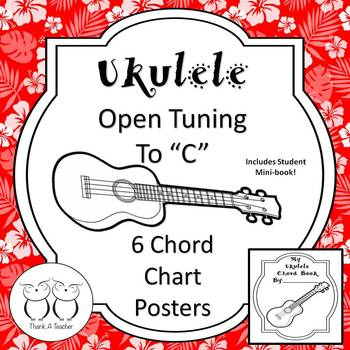 Ukulele Open Tuning Chord Charts By Thank A Teacher Tpt