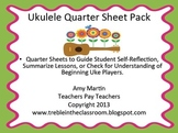 Ukulele Quarter Sheets