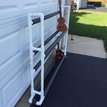 Ukulele Rack Plans - PVC