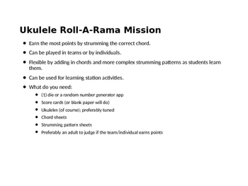 Ukulele Roll-A-Rama - Essential 8 (Freebie)