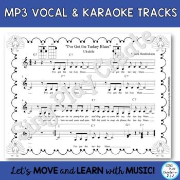 "Ukulele Thanksgiving Song: ""I've Got the Turkey Blues"" Lesson and Mp3 Tracks"