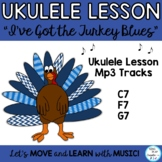 "Ukulele Thanksgiving Song: ""I've Got the Turkey Blues"" Lesson and Mp3 Tracks"