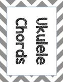 Ukulele Three Level Chord Charts