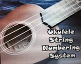 Ukulele string numbering system