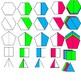 Ulimate Polygon Fraction Set