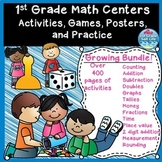 Back to school math / 1st Grade Math Centers / 1st Grade Math Activities