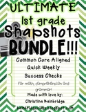 Ultimate 1st Grade Snapshots Bundle- Math, Grammar, and Comprehension CCSS!