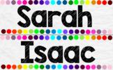 Ultimate 20 Colour/Colour Rainbow White Paper Theme Labels
