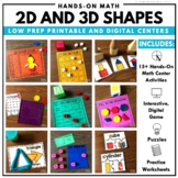 2D and 3D Shape Hands-On Math Center Packet