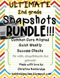 Ultimate 2nd Grade Snapshots Bundle- Math, Grammar, and Comprehension CCSS!