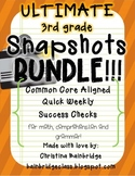 Ultimate 3rd Grade Snapshots Bundle- Math, Grammar, and Comprehension CCSS!
