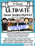 Ultimate 3rd Social Studies Bundle: Interactive Notebook, Text Features, ELA