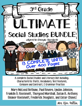 Ultimate 3rd Social Studies Bundle: Interactive Notebook,