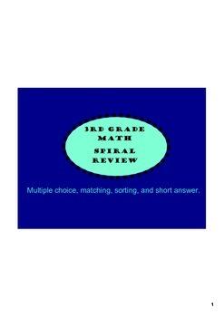 Ultimate 3rd grade math review sample pack