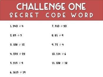 Ultimate 5th Grade Math Challenge - Review Game - Escape Room