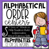 Alphabetical Order Centers: Quick Easy Cards to Practice A