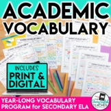 Academic Vocabulary Bundle for Secondary English