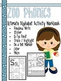 Ultimate Alphabet Activity Workbook with Zoo Phonics - Com