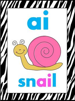 Zebra Alphabet Posters (Animal Print ABC Posters for Zoo or Jungle Theme)