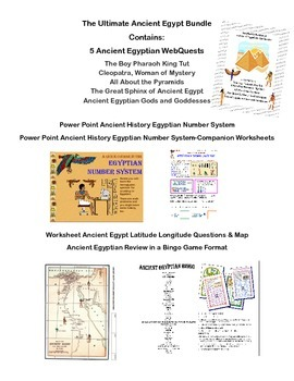 Ancient Egypt Ultimate Bundle-Power Point, Webquests, Worksheets, and Game