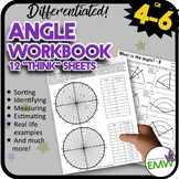 Angle Worksheets Workbook for 4 to 6th grade