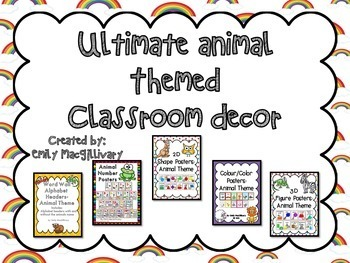 Ultimate Classroom Decor Bundle: Animal Themed Sets