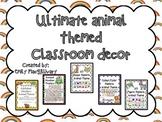 #ThriftyThursday Ultimate Classroom Decor Bundle: Animal T