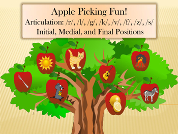 Ultimate Apple Picking: Articulation: Initial, Medial, and Final