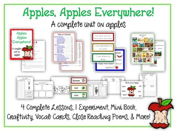 Ultimate Apple Science Unit - Reading & Writing Common Core - 60+ Pages!