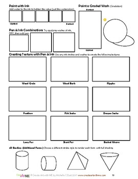 Ultimate Art Techniques Lesson Plans and Worksheets Packet
