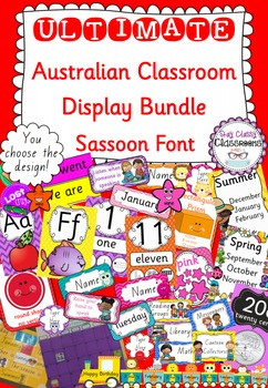 Ultimate Australian Classroom Display Bundle - Sassoon Font