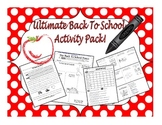 Ultimate Back To School Activities for the First Week!